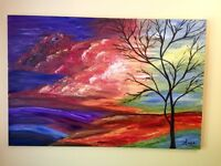 Oil painting canvas wall art