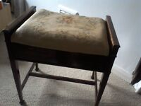 Antique Mahogany Piano Stool. A perfect up cycling project. Buyer collects St Albans. Offers?