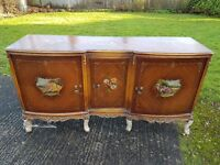 Hand-painted antique sideboard