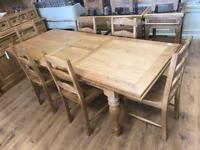 18m Extending Oak Dining Table With Turned Leg
