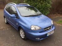 CHEVROLET AUTOMATIC TACUMA 08 REG IN BLUE WITH ONLY 50300 MILES FULL SERVICE HISTORY, 07867955762