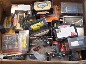 2 x large boxes of diecast models cars,suit bootseller/collector ,models from £1 -£3 each