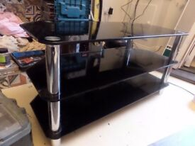 Smoked glass tv stand
