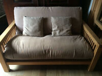House clearance,solid oak sofa bed/futon by futon company, mirrors