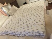 Shabby chic quilted blanket