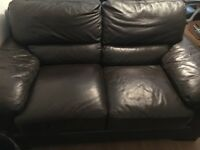 Brown Leather sofa Two and three seater in very good condition.