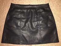 New Look Faux Leather Skirt Size 14