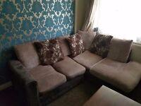 Left hand corner sofa plus 3 seater and 2 seater.