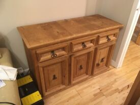 Large solid wood chunky cabinet
