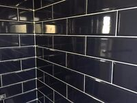 Diamante Blue Subway Tiles