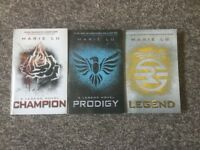 Legend book trilogy by Marie Lu
