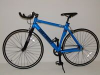 ALLOY FIXED GEAR BIKE,Fixile bikes, with Freewheel 2016 Model. £225 BLUE COLOUR