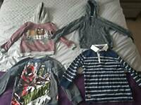 4 boys tops jumpers and long sleeve top age 5-6