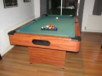 Pool Table. 115x205cm. Balls and Cues included. £100