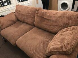 Comfy, brown sofa, good condition