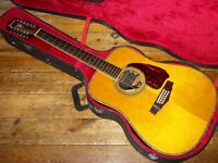 Ibanez V3 12 twelve string dreadnought acoustic 1983 made in Japan with Schaller soundhole pickup