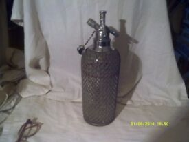 SPARKLETS SODA SYPHON with the SILVER BRAID with TOOL to FILL with GAS