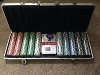 Brand new poker set never been used
