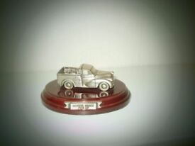 Morris Minor Pick Up - Pewter Model - handcrafted in Uk (boxed)