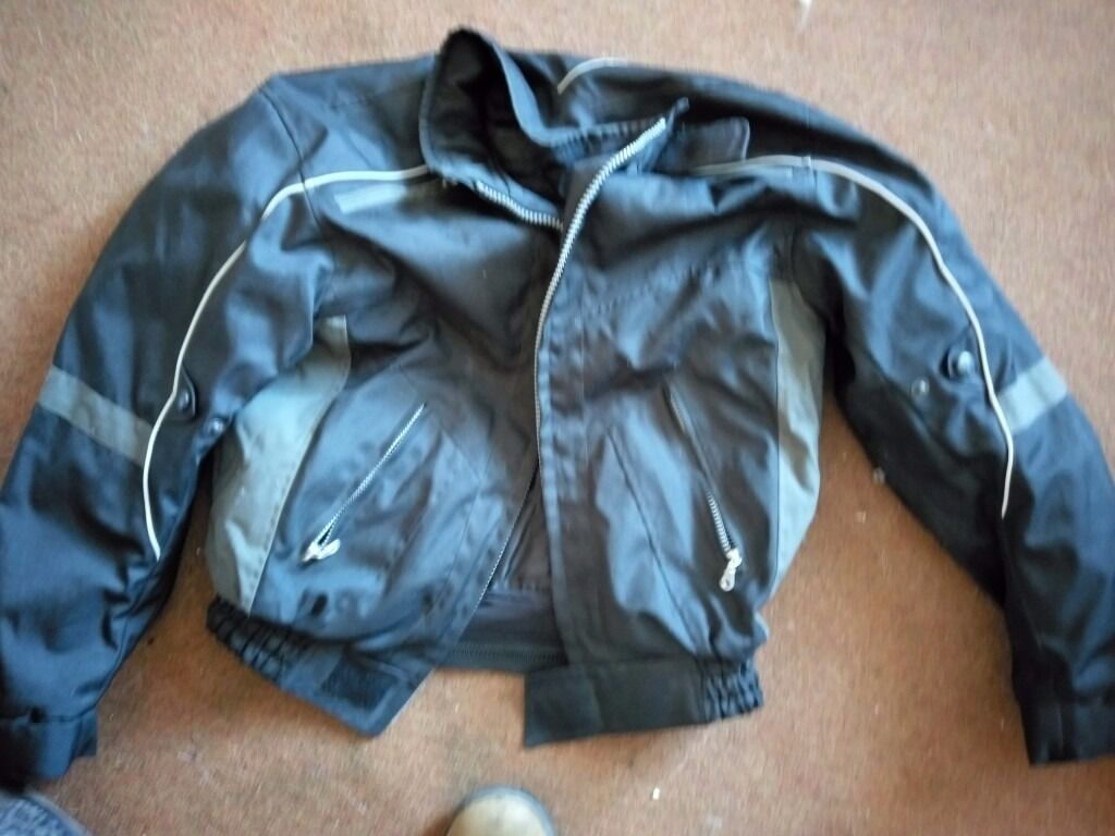 Ladies medium textile motorcycle jacket with protection