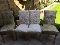 Dinning chairs (4 nos) in good condition