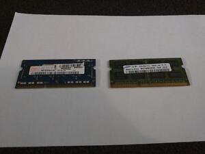 DDR3 Laptop Ram (2x 2gb sticks)