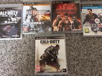 PS3 Games Bundle (COD:AW, COD:GHOSTS,TEKKEN6,FIFA14,BATTLEFIELD4.)