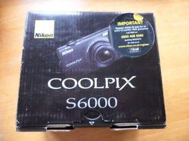 Brand new Nikon COOLPIX S6000 14.2 MP Digital Camera – Black only £85