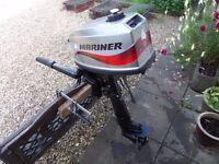 Mariner 4HP Longshaft 2Stroke Outboard Engine.