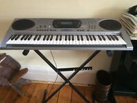 Electronic Piano: Casio Keyboard Ctk-671 + Stand