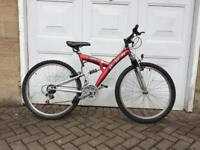 "Dual suspension bike 26"" wheels"