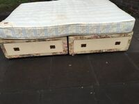 DOUBLE BED BASE WITH MATTRESS VERY CLEAN AND FIRM