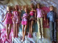 Ken & Barbie dolls