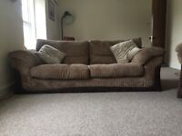 Dfs chocolate brown sofa suit excellent condition