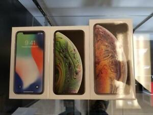 New in Box iPhone X Silver 64GB; iPhone XS 64/256GB Grey, iPhone XS Max 64/256GB Grey/Gold, Apple Warranty! Unlocked!***
