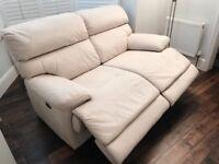 Recliner Fabric Sofa from Furniture Village, Elegant Cupola 2-3 Seater