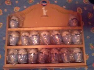 Danbury Mint Pilsbury Doughboy Spice Rack & Spice jar set