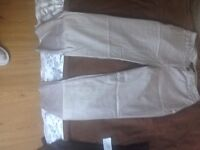 TROUSERS 1/3 BEIGE H&M SIZE 8