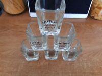 6 Jack daniels shot glasses