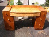 Vintage Art Deco vanity/desk/dresser/dressing table. Laptop desk. The Utility Furniture c. 1941-1952
