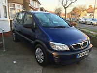 Vauxhall Zafira 7 seater 2004, 1.6 litre, 92000 miles