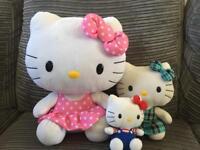 Hello kitty plush toys x3 vgc large