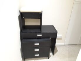Dressing table with stool & bedside table