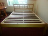 Nice natural wood bed frame - double