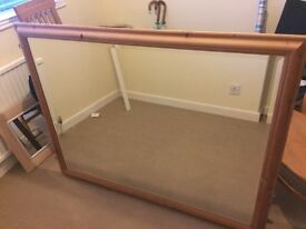 Large Bevelled edge mirror good condition