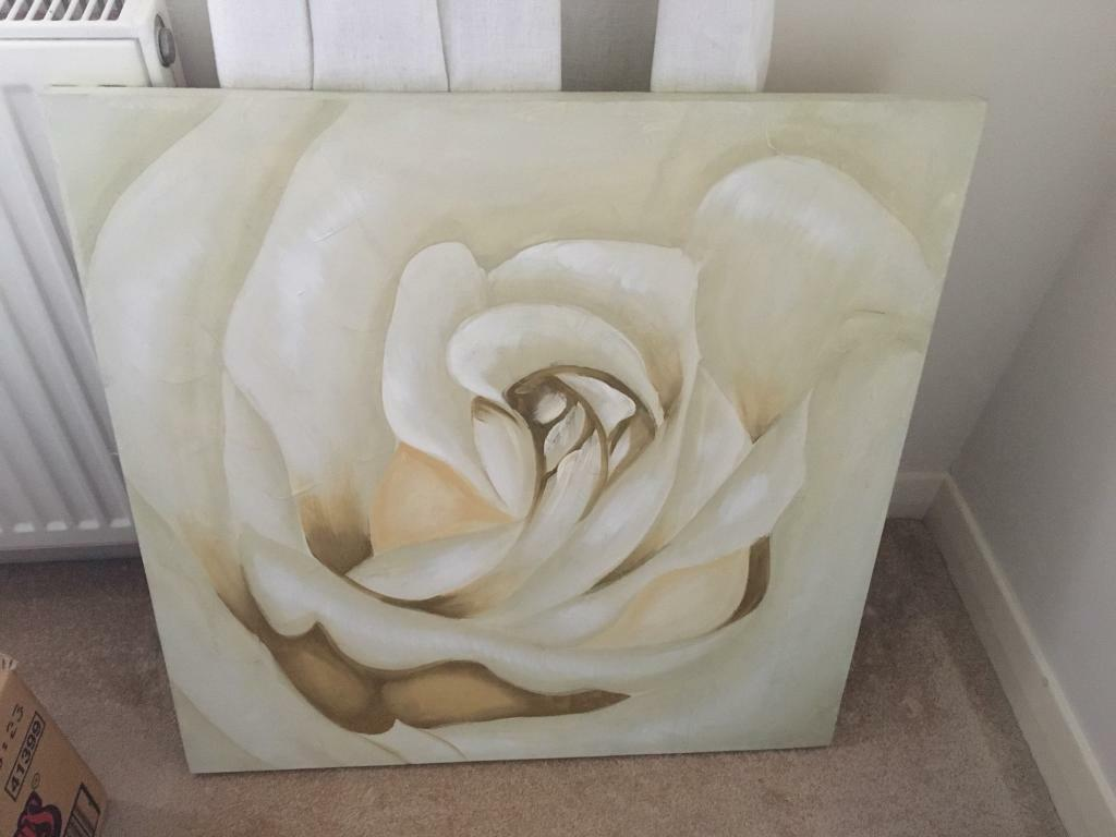 Medium flower canvas