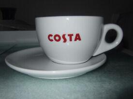 1x Costa Coffee Cappuccino Mug & Saucer (NEW)