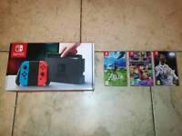 Nintendo Switch, Zelda, Mario Kart 8, Fifa 18