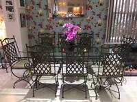 Beautiful High Quality 8 Seater Glass Dining Table Chairs