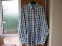 GANT MENS SHIRT. BLUE CHECK SIZE XXL REGULAR FIT.